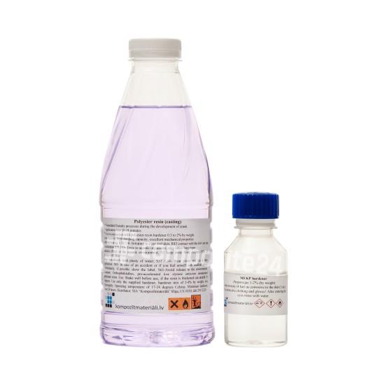 Transparenta polysesterhartser för gjutning 1kg | CHEMIFY
