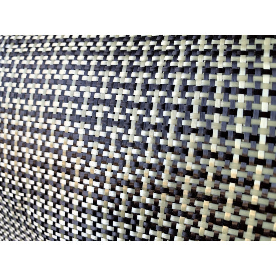 Hibridinis audinys anglies kevlaro tvilas 165g/m2